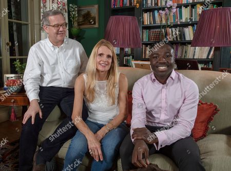 Editorial picture of Reggie Nelson. Picture - Mark Large....15.11.18 Quintin And Elizabeth Price With Reggie Nelson. A Determined Reggie Door-knocked His Way To A Top Job In The City By Googling ¿¿richest Area In London¿¿ And Came Up With Gloucester Road In Kensington Th