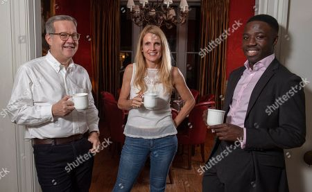 Editorial photo of Reggie Nelson. Picture - Mark Large....15.11.18 Quintin And Elizabeth Price With Reggie Nelson. A Determined Reggie Door-knocked His Way To A Top Job In The City By Googling ¿hest Area In London¿nd Came Up With Gloucester Road In Kensington Then Went