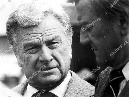 John Wayne and Eddie Albert in Mcq