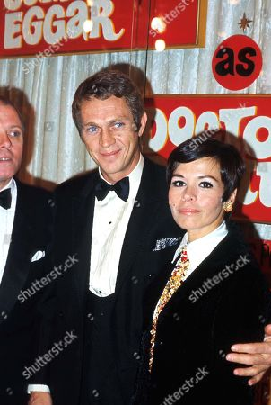 Steve Mcqueen and Wife Neile Adams at Black Tie Event 1967