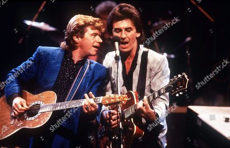 George Harrison and Dave Edmunds On Stage 1985