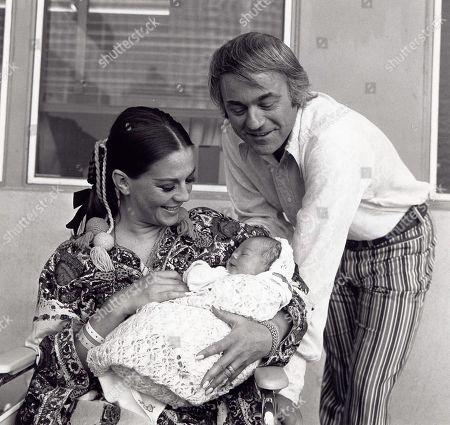 Natalie Wood with 2nd Husband Richard Gregson and Daughter Natasha Wagner