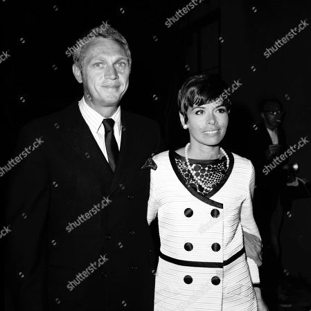 Steve Mcqueen and Wife Neile Adams at a Benefit For Theatre of Being Held Coronet Theatre Los Angeles