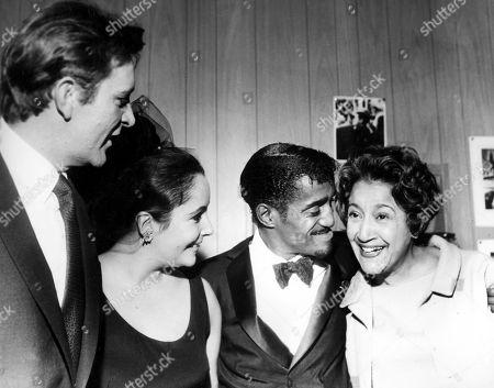 Richard Burton Elizabeth Taylor with Sammy Davis Jr and His Mom Elvira Sanchez