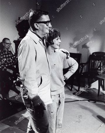 Editorial picture of Natalie Wood and Robert Mulligan On the Set of Inside Daisy Clover