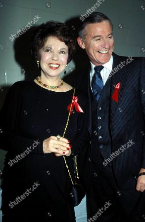 Stock Image of Shirley Temple and Roddy Mcdowall Smiling