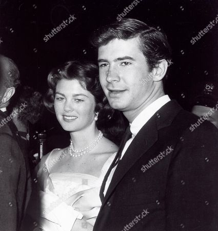 Anthony Perkins and Maria Cooper at the Spirit of St Louis Premiere