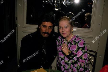 Stock Photo of Edward James Olmos & Joan Fontaine