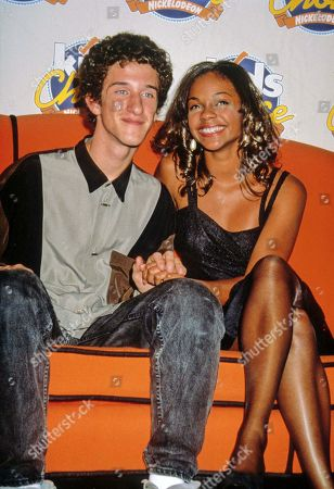Editorial picture of Dustin Diamond with Lark Voorhies 1992