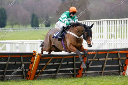 Bullionaire and Jonathan Burke win the Paul James Knitwear Maiden Hurdle at Uttoxeter.