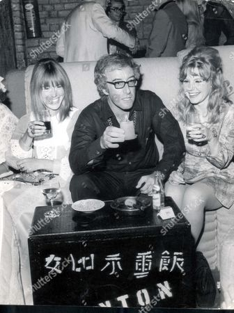 Peter Sellers 1969 - Died July 1980 Lunar Party At The Riverside Club. Left To Right: Miranda Quarry Peter Sellers And Mrs Graham Stark