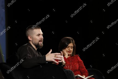 Stock Picture of Robert Eggers with Mariayah Kaderbhai (BAFTA)