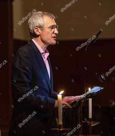 Stock Picture of Jeremy Vine giving his reading at the charity annual Church service.