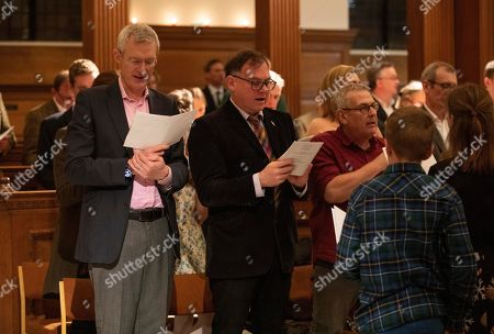 Jeremy Vine  with Paddy O'Connell attending the charity annual Church service.