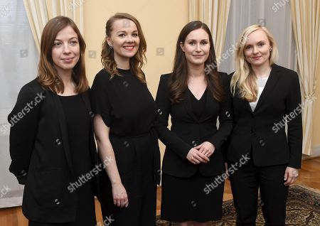 Minister of Education Li Andersson, Minister of Finance Katri Kulmuni, The new Prime Minister of Finland Sanna Marin and Minister of Interior Maria Ohisalo