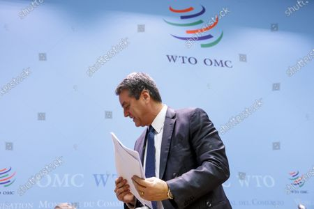 Brazilian Roberto Azevedo, Director General of the World Trade Organization, WTO, leaves the press conference after closing the WTO's General Council, at the headquarters of the World Trade Organization, WTO, in Geneva, Switzerland, 10 December 2019.
