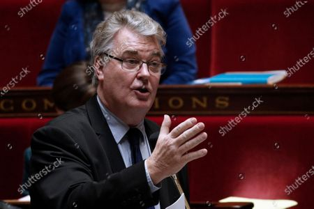 French High Commissioner for Pension Reform Jean-Paul Delevoye speaks during the weekly session of questions to the government, at the French National Assembly in Paris, France, 10 December 2019.