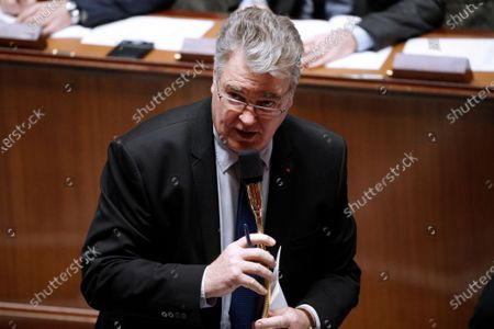 Stock Picture of French High Commissioner for Pension Reform Jean-Paul Delevoye speaks during the weekly session of questions to the government, at the French National Assembly in Paris, France, 10 December 2019.