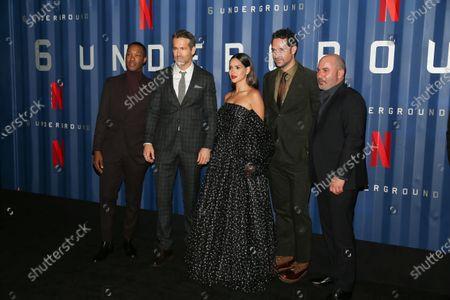 Corey Hawkins, Ryan Reynolds, Adria Arjona, Manuel Garcia-Rulfo, and Lior Raz