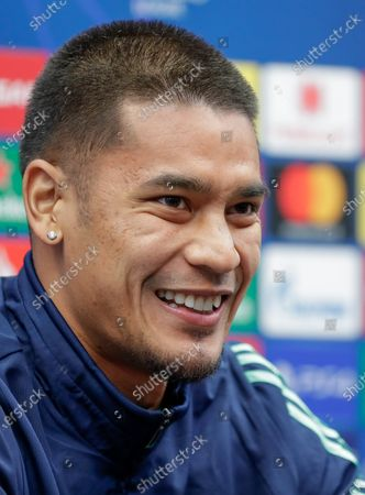 Stock Photo of Alphonse Areola of Real Madrid attends a press conference in Bruges, Belgium, 10 December 2019. Real Madrid will face Club Brugge in their UEFA Champions League group stage soccer match on 11 December 2019.