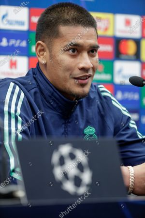 Stock Picture of Alphonse Areola of Real Madrid attends a press conference in Bruges, Belgium, 10 December 2019. Real Madrid will face Club Brugge in their UEFA Champions League group stage soccer match on 11 December 2019.