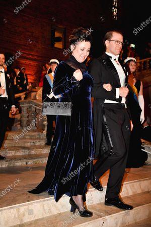 Prince Daniel and Olga Tokarczuk, Nobel Literature laureate, during the Nobel Banquet.