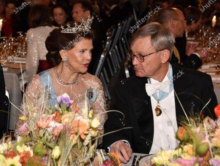 Queen Silvia and Carl-Henrik Heldin, Chairman of Nobel Foundation, during the Nobel Banquet.