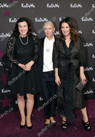 Stock Picture of German actress Iris Berben (R), German journalist Christiane Arp (C) and politician Dorothee Baer (L) attend the grand opening of the Kaufhaus des Westens (KaDeWe) department store in Berlin, Germany, 10 December 2019. The KaDeWe is the second largest department store in Europe with over 60 thousand square meters of selling space. At the moment the building is undergoing a major refurbishment process.