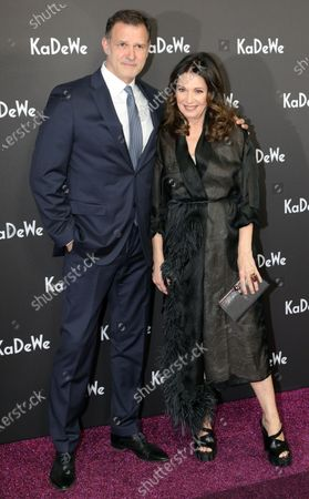 German actress Iris Berben (R) and actor Heiko Kiesow (L) attend the grand opening of the Kaufhaus des Westens (KaDeWe) department store in Berlin, Germany, 10 December 2019. The KaDeWe is the second largest department store in Europe with over 60 thousand square meters of selling space. At the moment the building is undergoing a major refurbishment process.