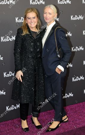 German journalist Christiane Arp (R) and Petra Fladenhofer of the Kadewe group attend the grand opening of the Kaufhaus des Westens (KaDeWe) department store in Berlin, Germany, 10 December 2019. The KaDeWe is the second largest department store in Europe with over 60 000 square meters of selling space. At the moment the building is undergoing a major refurbishment process.