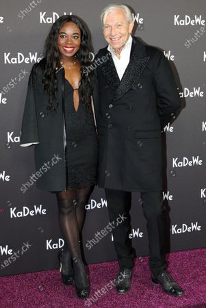 Stock Picture of Aissata Kultus-Cisse (L) and Jo Groebel attend the grand opening of the Kaufhaus des Westens (KaDeWe) department store in Berlin, Germany, 10 December 2019. The KaDeWe is the second largest department store in Europe with over 60 000 square meters of selling space. At the moment the building is undergoing a major refurbishment process.