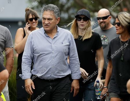 Stock Image of Paul Quinn, chairman of White Island Tours walks from meeting with the family of volcano victim Hayden Marshall-Inman in Whakatane, New Zealand, .The volcano on White Island has continued venting steam and mud, delaying plans by authorities to recover the bodies of victims from the volcano site. Authorities believe there are eight bodies that remain on the island following the Dec. 9 eruption