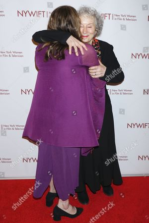 Stock Image of Ann Dowd and Margaret Atwood