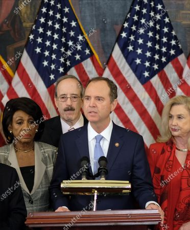 Editorial photo of US House Investigative Committee press conference, Washington DC, USA - 10 Dec 2019