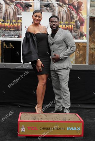 Eniko Parrish and Kevin Hart at Kevin Hart's Hand and Footprint Ceremony at the TCL Chinese Theatre.