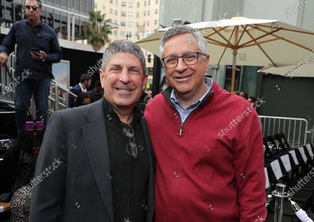 Jeff Shell, Chairman, NBCUniversal Film and Entertainment, and Tony Vinciquerra, CEO of Sony Pictures Entertainment, at Kevin Hart's Hand and Footprint Ceremony at the TCL Chinese Theatre.