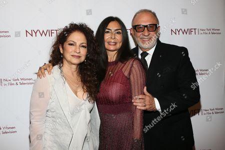 Gloria Estefan, Yvonne Russo and Emilio Estefan