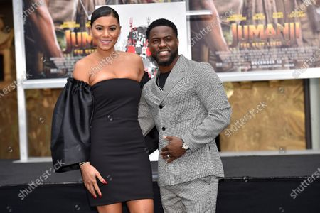Stock Photo of Eniko Parrish and Kevin Hart