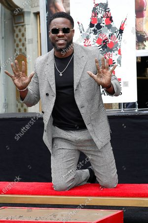 Kevin Hart during his hand print ceremony at the TCL Chinese Theatre IMAX in Hollywood, Los Angeles, California, USA, 10 December 2019.
