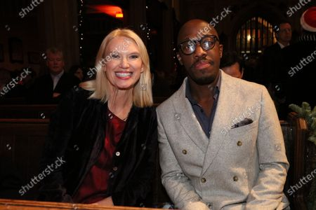 Anneka Rice and Giles Terera