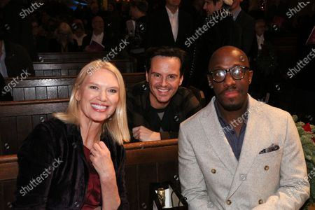Anneka Rice, Andrew Scott and Giles Terera