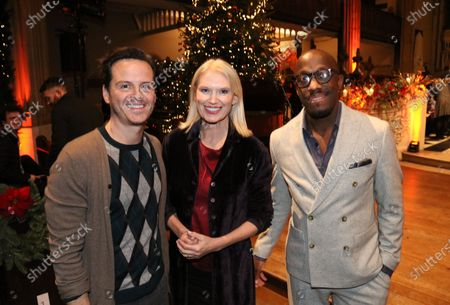Andrew Scott, Anneka Rice and Giles Terera