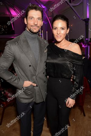 David Gandy and girlfriend Stephanie Mendoros