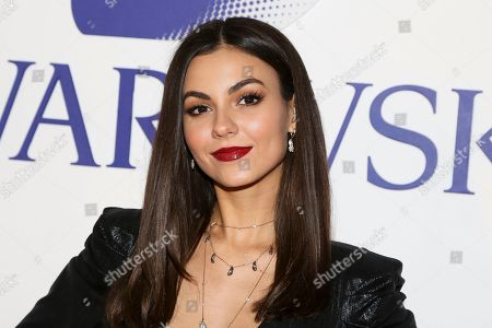 Victoria Justice attends Swarovski's Naughty or Nice collection launch holiday celebration at 393