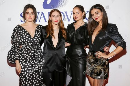 Molly Gordon, Zosia Mamet, Debby Ryan, Victoria Justice. Molly Gordon, from left, Zosia Mamet, Debby Ryan and Victoria Justice attend Swarovski's Naughty or Nice collection launch holiday celebration at 393
