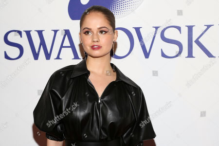 Debby Ryan attends Swarovski's Naughty or Nice collection launch holiday celebration at 393