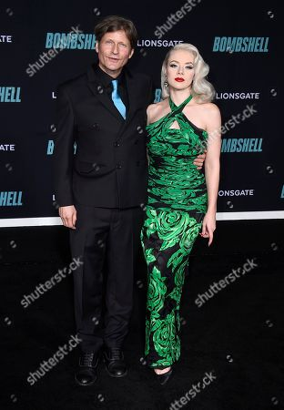 """Crispin Glover, left, attends the premiere of """"Bombshell"""" at Regency Village Theatre, in Los Angeles"""