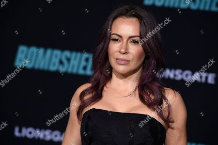 """Alyssa Milano attends the premiere of """"Bombshell"""" at Regency Village Theatre, in Los Angeles"""