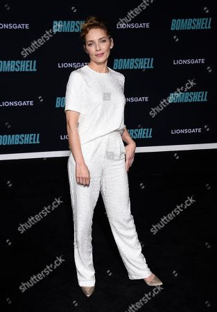 """Mili Avital attends the premiere of """"Bombshell"""" at Regency Village Theatre, in Los Angeles"""