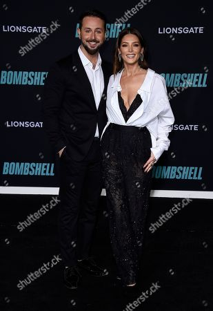 """Ashley Greene, Paul Khoury. Ashley Greene and Paul Khoury attend the premiere of """"Bombshell"""" at Regency Village Theatre, in Los Angeles"""